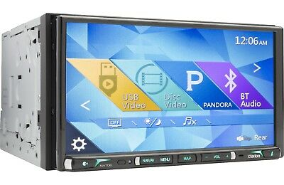 """Clarion NX706  Double-DIN 7"""" DVD/Navigation/ GPS Receiver w/ Bluetooth NX706#R"""