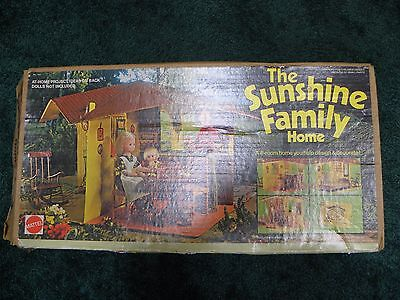 1973 Mattel The Sunshine Family Home Dollhouse No.7801 Original Box & House ONLY