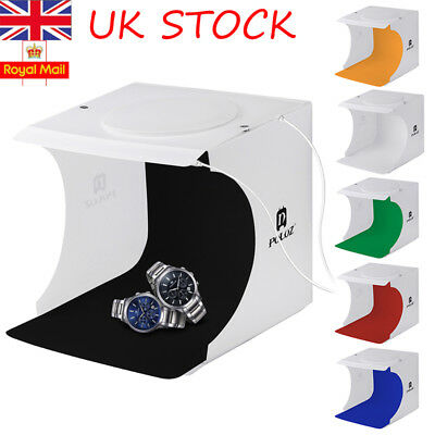 UK Portable Photo Studio Lighting Mini Box Photography Backdrop LED Light Tent