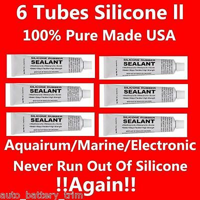 Fresh Tubes Food Grade Silicone Sealant Adhesive Clear 6 Ounces