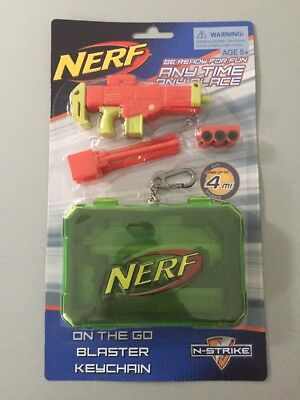 NERF Gun N STRIKE On The Go blaster keychain Fires Up To 4 Metres Age 5