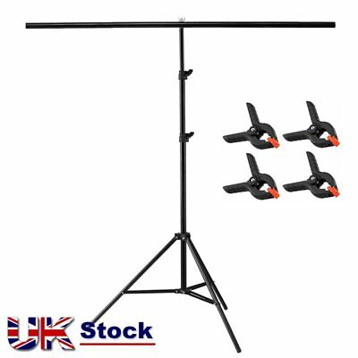 2m Light  Stand + 2m Crossbar Photo Studio Background Backdrop T Support System