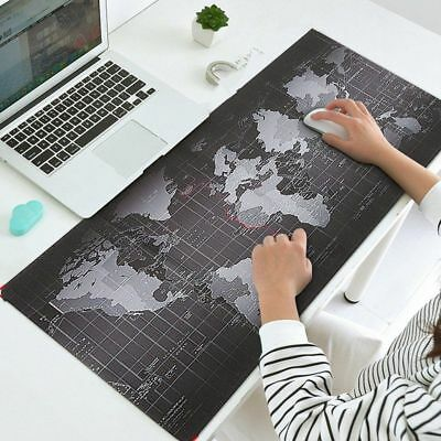Xtra Large Size Anti-Slip World Map Speed Game Mouse Pad Gaming Mat Laptop PC