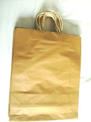 Brown Colour Kraft Twisted Handle Paper gift shopping Bags pack of 16 L size