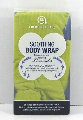 Aroma Home Hot or Cold Neck Body Wrap Lavender Microwavable Lime Green Color