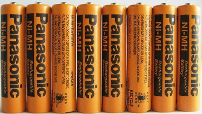 Panasonic Cordless Phone Battery  8- Pack Batteries Rechargeable