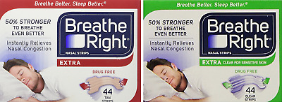 Breathe Right EXTRA Nasal Strips, 44 Count
