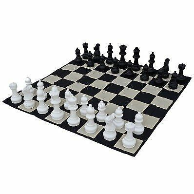 Giant Plastic Chess Set With A 12 King Outdoor