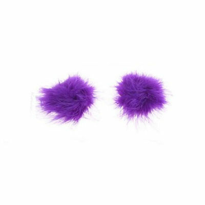 New Tassel Pasties Nipple Covers Stick on Breast  Burlesque Tassle PURPLE
