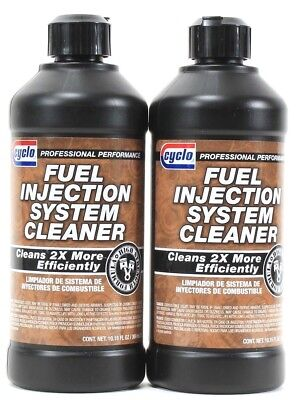 2 Cyclo Fuel Injection System Cleaner 2X More Efficiently High Strength 10.15 oz