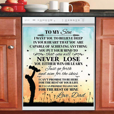 Beautiful Cute Decor Kitchen Dishwasher Magnet - Son ~ Dad Family Magnet