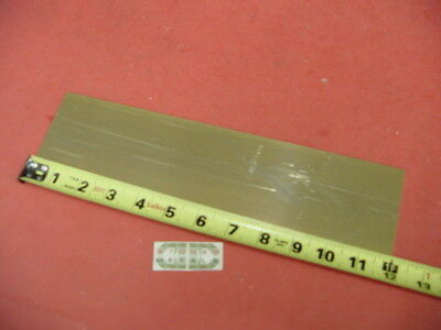 "1/8"" x 3"" C360 BRASS FLAT BAR 12"" long Solid .125"" Plate Mill Stock H02"