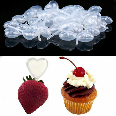 50PCS 4ML Plastic Heart-shaped Rectangular Squeeze Transfer Pipettes for Dessert