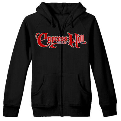 Authentic CYPRESS HILL Skull and Compass Women/'s Zip Hoodie Black S-2XL NEW