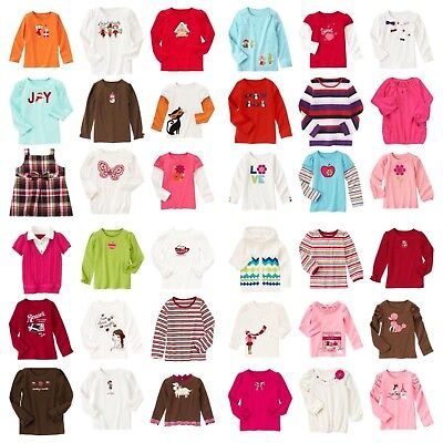 NWT Gymboree Fall/Winter/Spring LS Top Tee Many Lines Choose