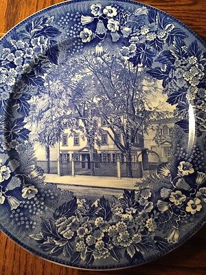 Wedgewood Made In England Commemorating Wadsworth-Longfellow Home, Portland, Me.