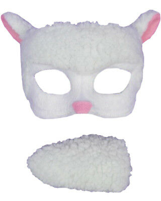 Sheep Deluxe Mask And Tail Set One Size