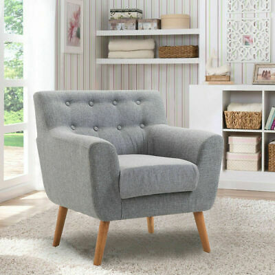 Pleasing Arm Chair Tufted Back Fabric Upholstered Accent Chair Single Andrewgaddart Wooden Chair Designs For Living Room Andrewgaddartcom