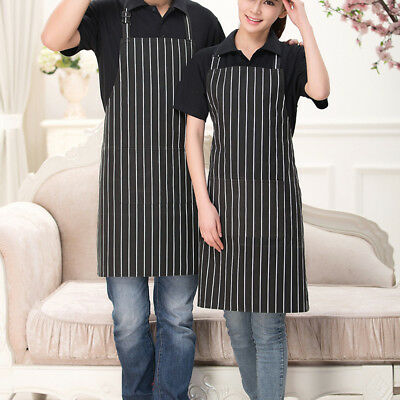 Stripe Pocket Waist Apron SET of 2 Restaurant Waiters Full Aprons 31x23 inches