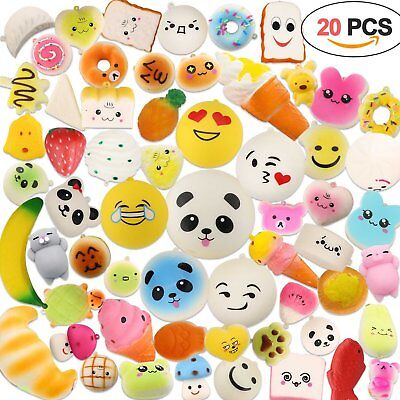 20Pcs Lot Jumbo Squishy Scented Soft Slow Rising Squeeze Pressure Relief Toys