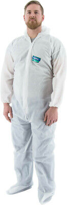 Majestic 74-303 ResisTEX PP/CPE Coated Coveralls with Hood and Boots, XL