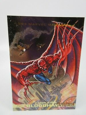 Marvel Masterpieces 1993 Skybox Dyna Etch Foil Spectra Insert Card S6 Bloodhawk