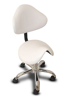 Saddle Chair/stool With Back Salon Beauty Spa Equipment  - White