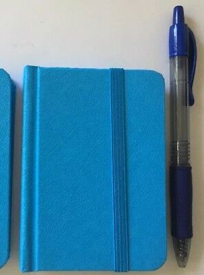 """New Small Blue Hardcover Pocket Notebook Journal 96 Pages 4.5 x 3"""" Ruled"""