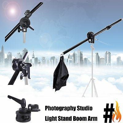 Photo Studio Overhead Boom Arm Light Stand with Swivel Tripod Clamp Adjustable