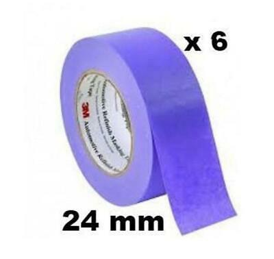 3M 150 Auto High Temp Masking Tape Packing Purple 24mm x 50m 6 Pack