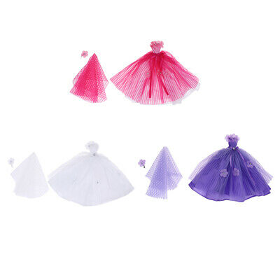 Prettyia Awesome Wedding Dress Evening Party Clothes Wears for Doll