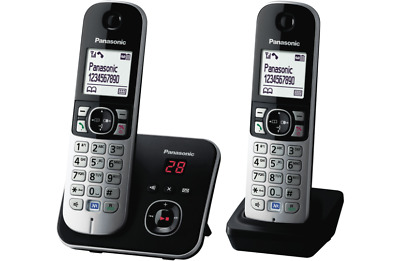 Panasonic KX-TG6822ALB DECT Cordless Phones 2 Handsets With Answering Machine