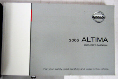 Amazing 2005 Nissan Altima Owners Manual Guide Book (water Damage)