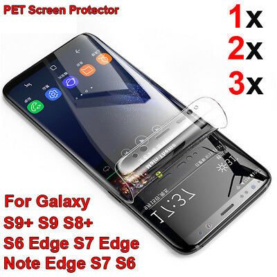 FULL Cover Screen Protector PET Film For Samsung Galaxy s9 S8 S8 Plus S7 S6 Edge