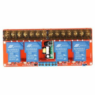 5X(4-channel 250VAC 30A Solid State Relay Module Board High/Low Level Trigg S1O3
