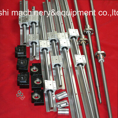 Support Linear Rail 3 SBR20 sets+3 Ballscrew RM1605+3BK/BF12 +3 Couplers for CNC