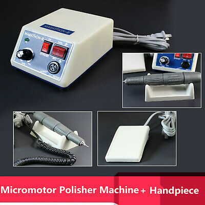 Dental Lab Micromotor Marathon Polisher Power Box w/ 35K RPM Handpiece UK