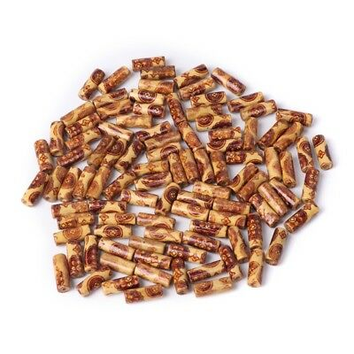 100pcs 2mm Hole Mixed Wooden Beads for Bracelet Jewelry Charms DIY Crafts Making