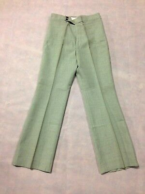Trouser Green Grey Light Vintage Boys / Mens 1970's Leisure Pant Clothing Golf