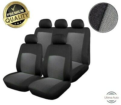 Universal Grey Car Seat Covers Protectors Washable Dog Pet Full Set Front Rear