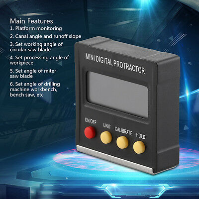Inclinometer Digital Protractor Mini Angle Gauge 360˚ Magnetic Base