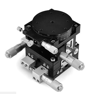 XYZR four-axis 60X60mm Adjustable Linear Stage Cross-roller Bearing Precision