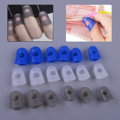 12* Silicone Guitar/Bass/Ukulele Finger Guards Picks Protectors Fingertip Band