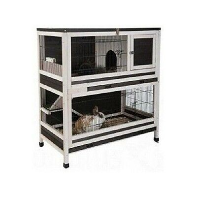 Wooden Indoor Rabbit Guinea Pig Small Pet Cage Hutch