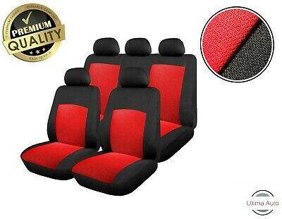 Red Car Seat Covers Protectors Universal washable Dog Pet full set front rear