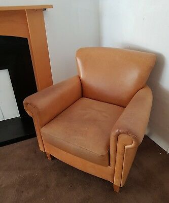 COMMERCIAL TAN Leather Club Tub Chair Pub Bar Bistro Coffee Shop ...