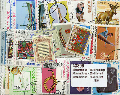 Mozambique Collection 55 Different Topical Stamps Timbres Mosambik Briefmarken