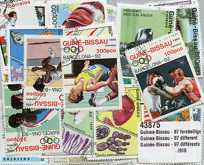 Guinea-Bissau Collection of 97 Different Topical Stamps Timbres Briefmarken