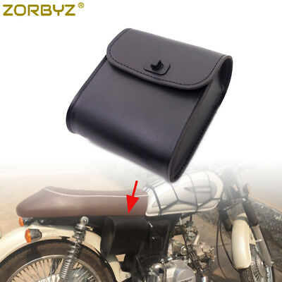 Universal Motorcycle Saddlebag Saddle Side Leather Small Tool Bags Pouch Pannier