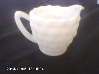Miniature Antique  Pitcher Small Vintage White Glass great condition